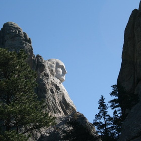 The Profile of George Washington at Mount Rushmore National Memorial