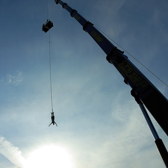 Bungee jumping thrills start from high elevations.