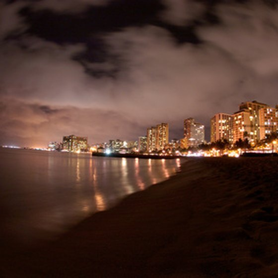Waikiki presents white sandy beaches amid myriad metropolitan offerings.