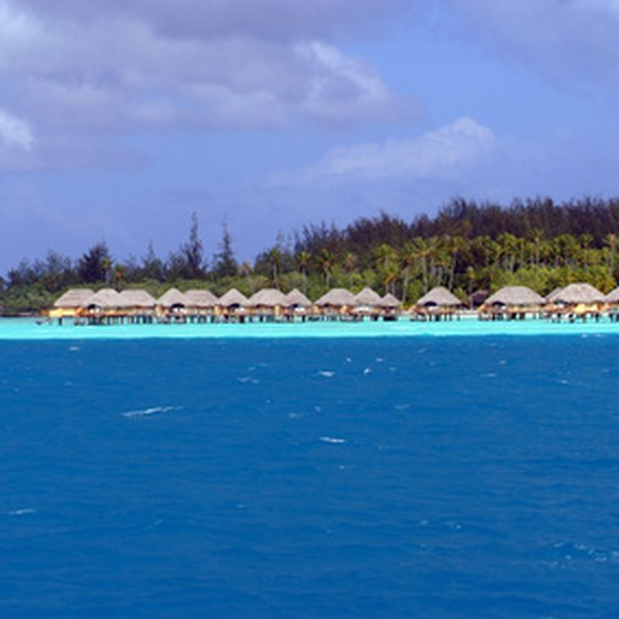 Bora Bora is famed for its blue waters.