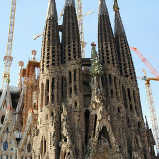 Gaudi's whimsicala La Sagrada Familia is a must-see in Barcelona, Spain.