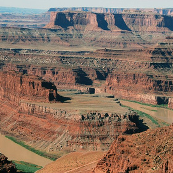 The Colorado River in the Grand Canyon.
