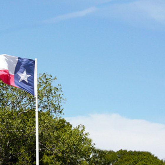 The flag of the Lone Star state.