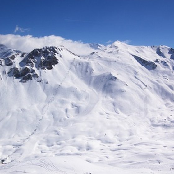 Steep, open slopes characterize many of Austria's ski areas.