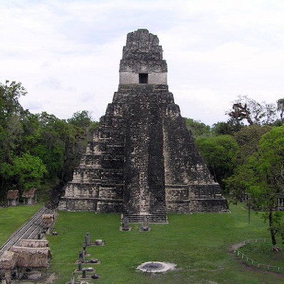 The ancient Mayan city of Tikal is one of Guatemala's major tourist attractions.