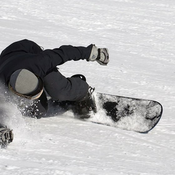 Snowboarding is a welcome activity at all Seattle-area ski resorts.
