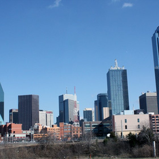 The Dallas skyline