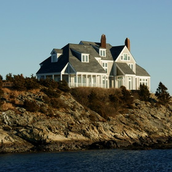 Mansions dot the coast around Newport as historic remnants of the Gilded Age.