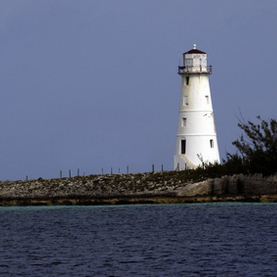Lighthouse Nassau Bahamas Flat