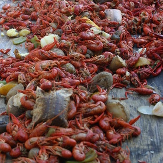 Boiled crawfish is just one local dish you'll enjoy in Louisiana.