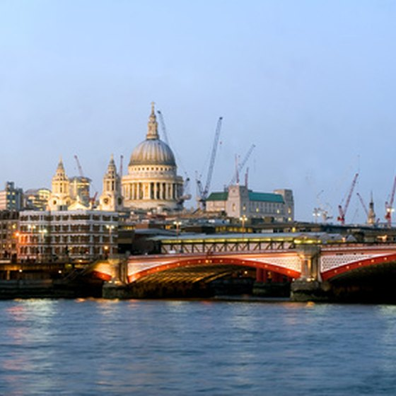St. Paul's Cathedral can be seen from the River Thames.