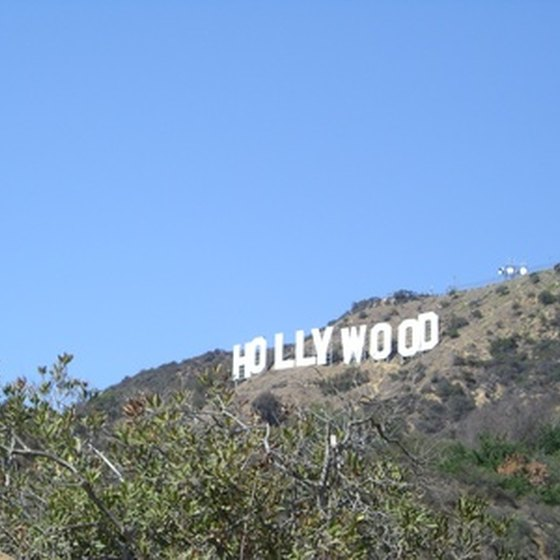 Double-decker bus tours are a popular way to see Hollywood.