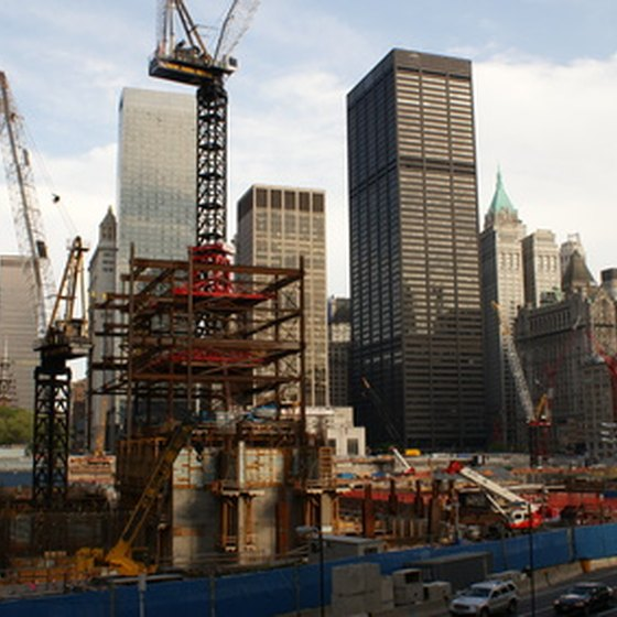 Ground Zero, undergoing reconstruction.