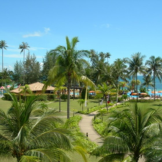 Many all-inclusive resorts sit on tropical beaches.