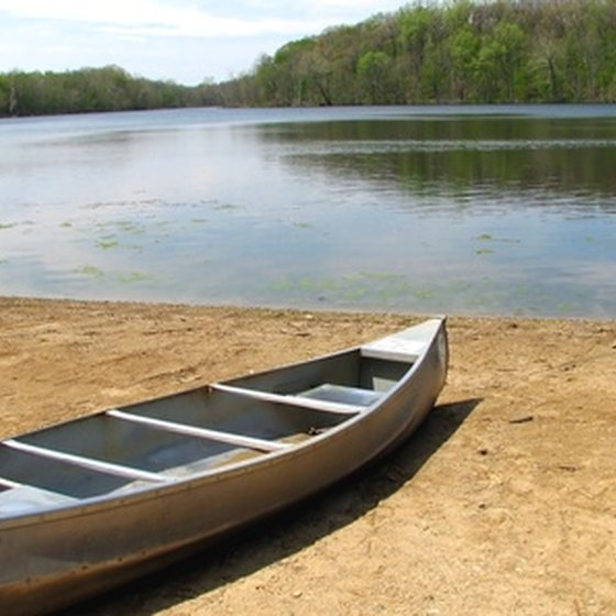 Some Minnesota State Park cabins come with canoes.