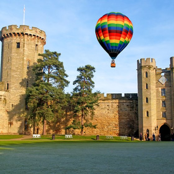 Warwick Castle, one of the best-preserved castles in England