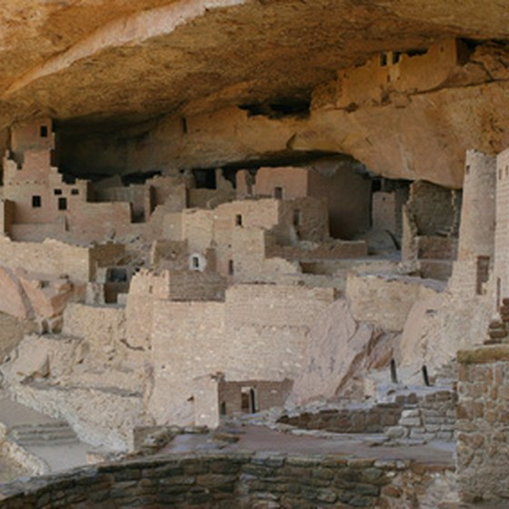Mesa Verde cliff dwellings are carved right into the mountainside.