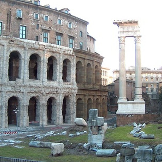 Ancient monuments abound in modern Rome.