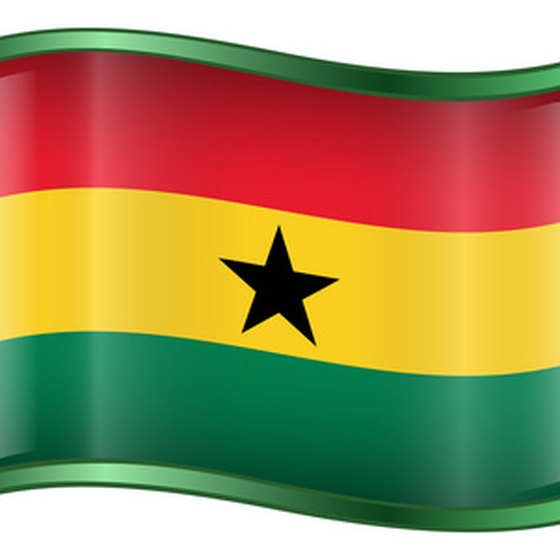 The flag of Ghana
