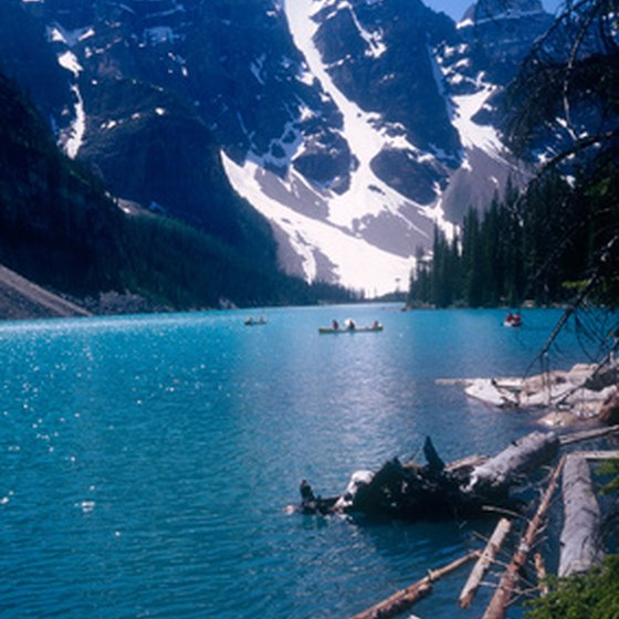 Razor-sharp peaks and deep blue lakes define much of Banff National Park.