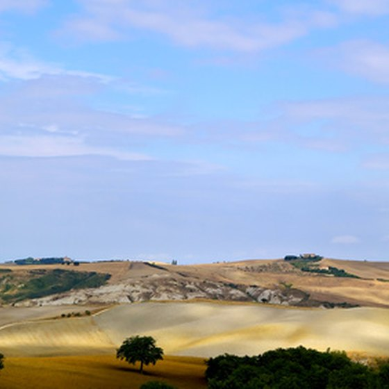 The Tuscan countryside is home to many small farms.