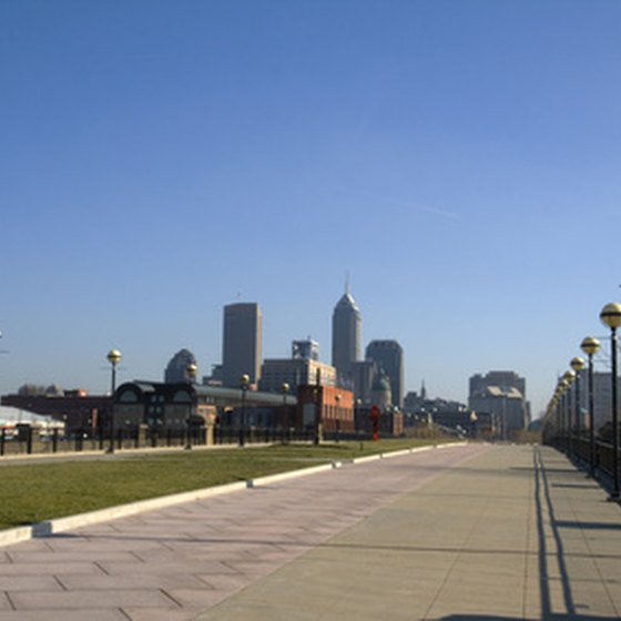The Indianapolis skyline.