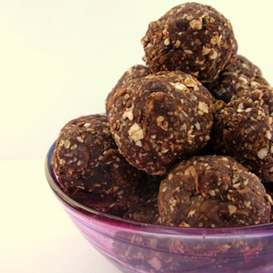 Truffles can be filled with nuts, coffee, liquor, wine and more.