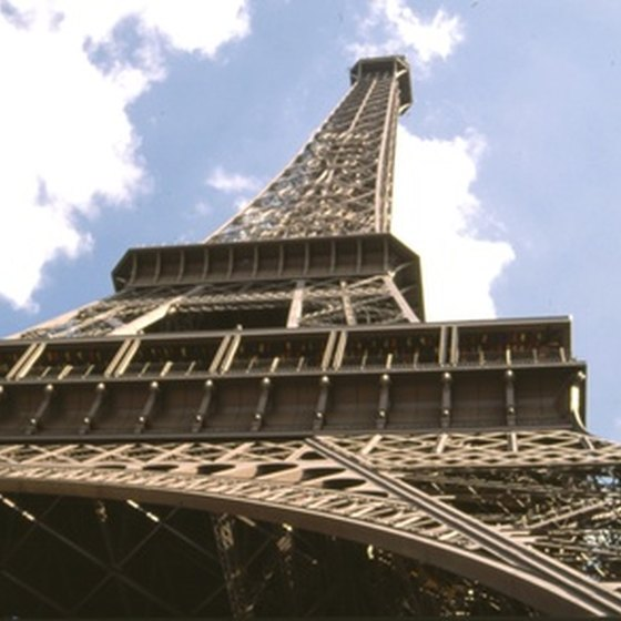 Travel to the top of the Eiffel Tower on a European tour.