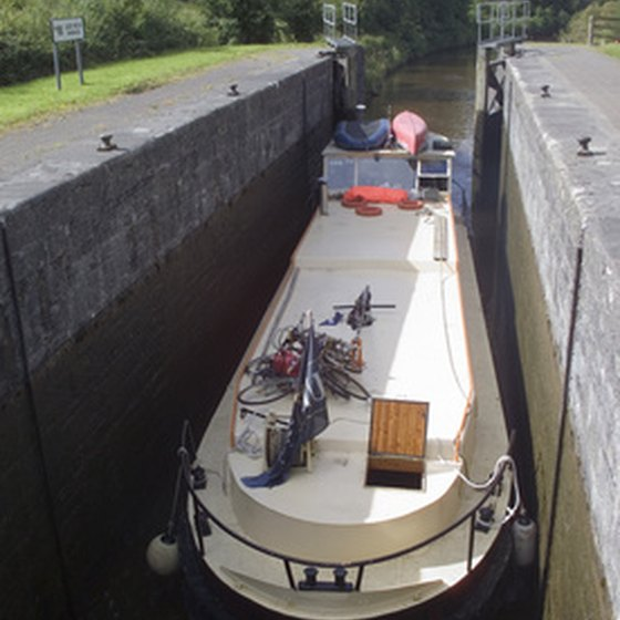 On a canal tour of Ireland you'll pass through the locks on the Shannon-Erne Waterway.