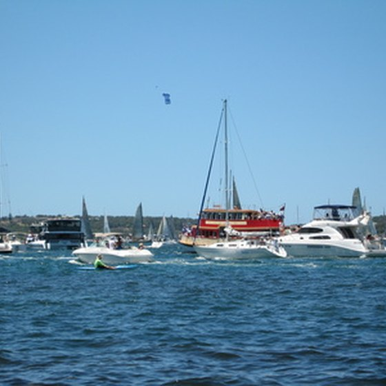 The annual Sydney to Hobart Yacht Race ends on Hobart's picturesque waterfront.