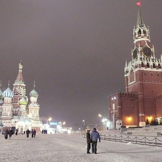 Moscow's Red Square in winter.