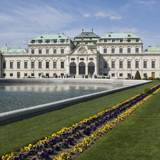 Vienna's historic buildings draw tourists.