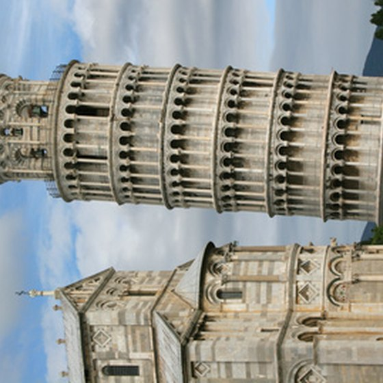 The Leaning Tower next to Pisa's cathedral.