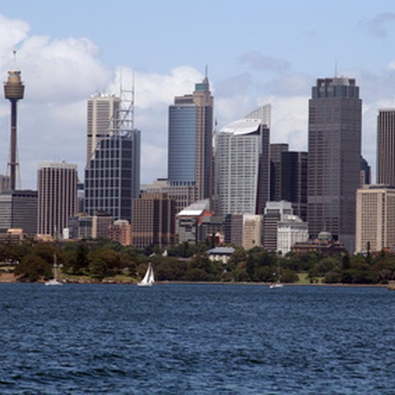 Sydney's AMP Tower distinguishes the city skyline like the Space Needle in Seattle.