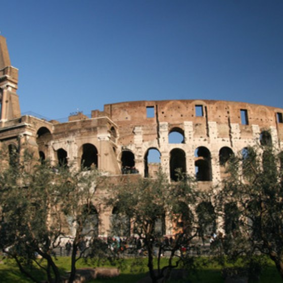 A view of the Coliseum in Rome, Italy
