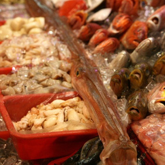 Spanish cuisine includes fresh seafood