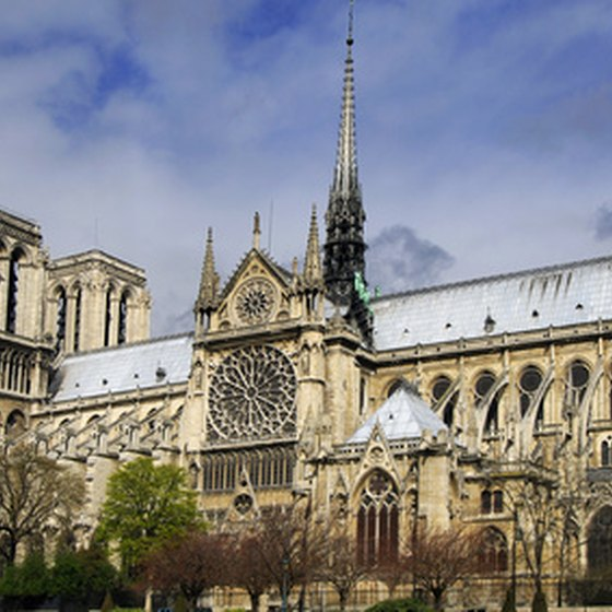 Notre Dame Cathedral in Paris is a major attraction on tours of western Europe.