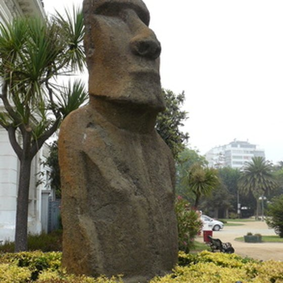 Easter Island, near continental Chile, is a major artistic draw to the country.