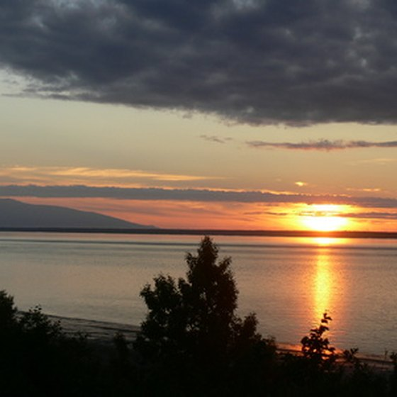 Mount Redoubt lies near the Cook Inlet, an arm of the Gulf of Alaska.