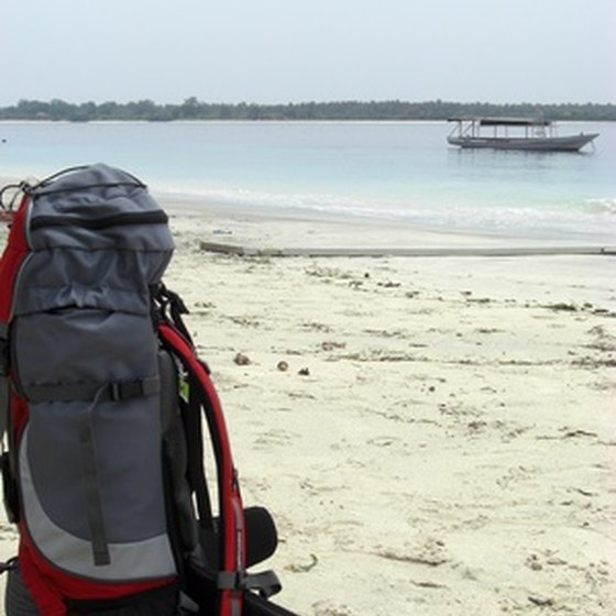 The backpack is a classic bag for lightweight travel in India.