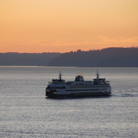 A ferry in Elliott Bay