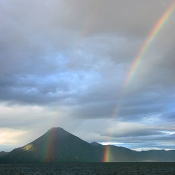 Rainbow on Lake Atitlan