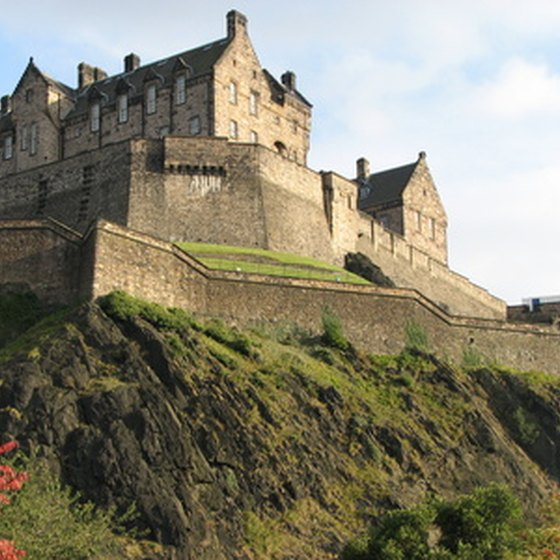 Edinburgh Castle: one of many of Edinburgh's attractions.