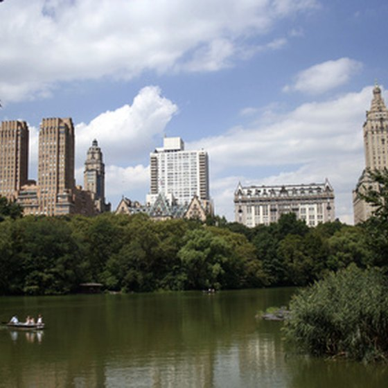 Enjoy boating in New York's Central Park.