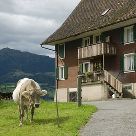 Switzerland is home to both urban centers and rural towns.