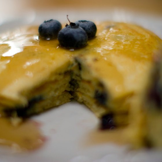 Warm blueberry pancakes are a great start to the day.