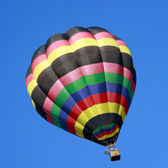 Enjoy a Valentine's Day balloon ride at the Heritage Hills Golf Resort.