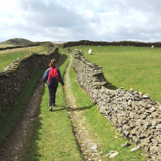 Many ancient country lanes in Europe are now hiking paths.