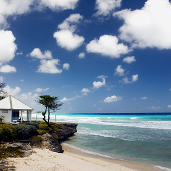 Barbados features more than 70 miles of sandy beaches.