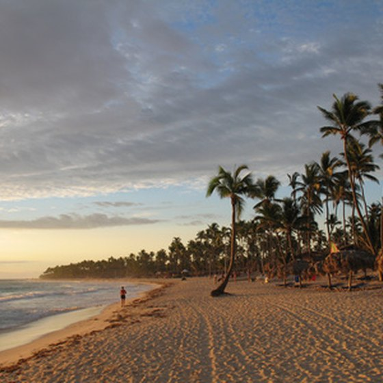 A view of the Punta Cana beach.